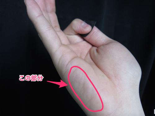 右手の位置1